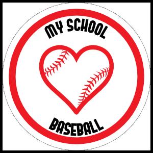 Custom Love Baseball Circle Sticker