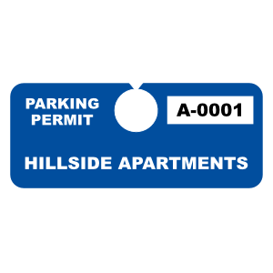 Custom Horizontal Hang Tag Parking Permit
