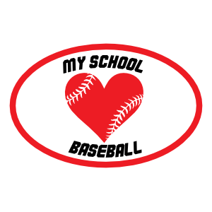 Custom Heart with Baseball Seams in an Oval