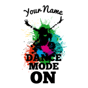 Custom Splashed with Color Dance Mode Sticker