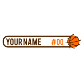 Custom Text Basketball ID Tag Sticker