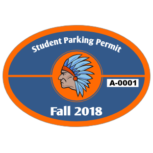 Split Oval School Parking Permit Sticker
