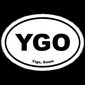 Yigo, Guam Oval Stickers