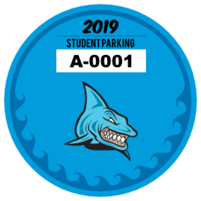 Ocean Waves Circle School Parking Permit Sticker