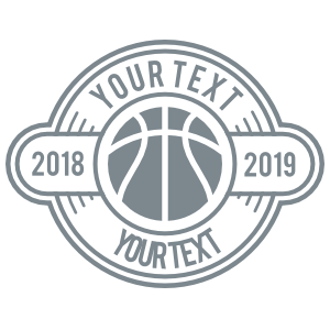 Custom Cut-Out Text Basketball Circle Sticker