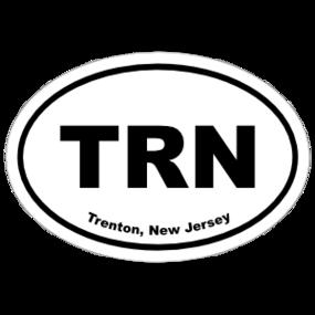 Trenton, New Jersey Oval Stickers