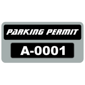 Parking Permit Rectangle 9