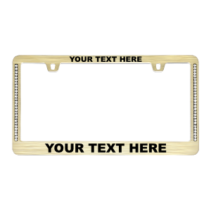 Custom Diamond Neo Gold License Plate Frame