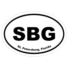 St. Petersburg, Florida Oval Stickers