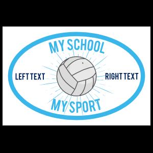 Custom Volleyball Oval Full Burst Sticker