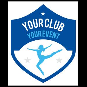 Custom Gymnastics Shield Sticker