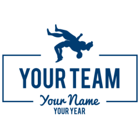 Custom Wrestling Team Transfer Sticker