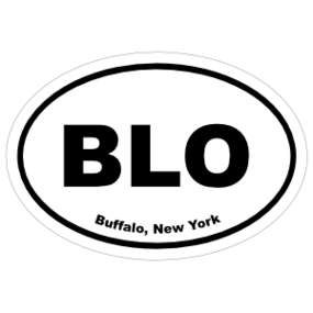 Buffalo, New York Oval Stickers
