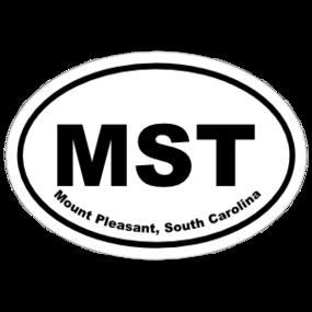 Mount Pleasant, South Carolina Oval Stickers