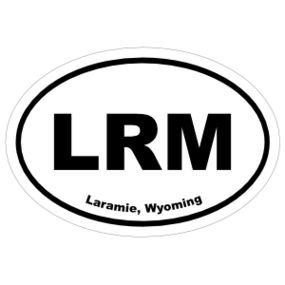Laramie, Wyoming Oval Stickers