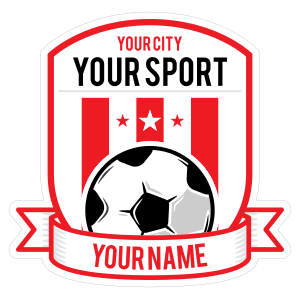 Custom Soccer Shield with Banner Base