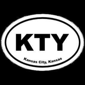 Kansas City, Kansas Oval Stickers