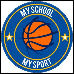 Custom Double Border Basketball Text Sticker