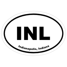 Indianapolis, Indiana Oval Stickers