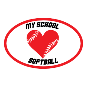 Custom Heart with Softball Seams in an Oval Magnet