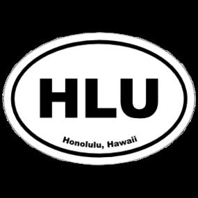 Honolulu, Hawaii Oval Stickers
