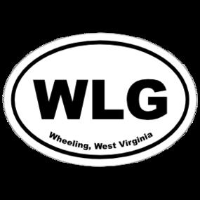 Wheeling, West Virginia Oval Stickers