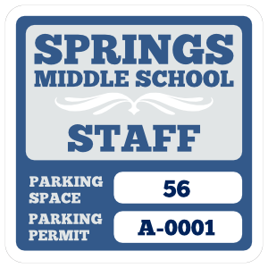 Parking Permit Square 6