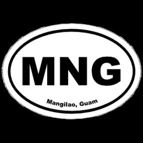 Mangilao, Guam Oval Stickers
