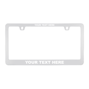 Custom Chrome Metal License Plate Frame