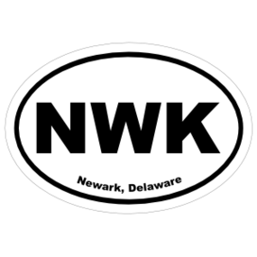 Newark, Delaware Oval Stickers