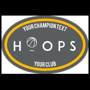 Custom Hoops Oval Sticker