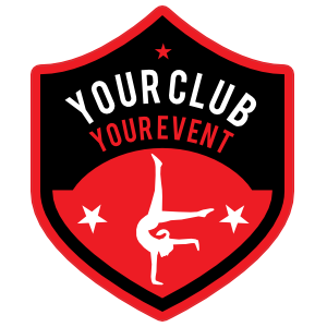Custom Gymnastics Handstand Shield Sticker