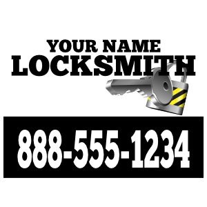 Locksmith Magnet Template