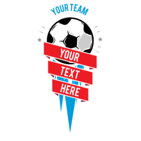Custom Soccer Vertical Banner Sticker
