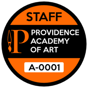 Art School Parking Permit Circle Sticker