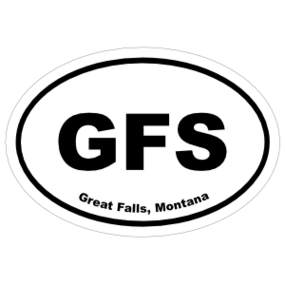 Great Falls, Montana Oval Stickers