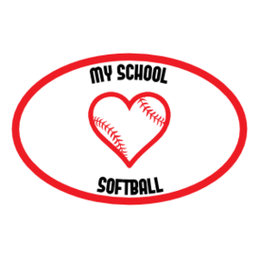 Custom Love Softball Oval Magnet