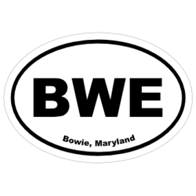 Bowie, Maryland Oval Stickers