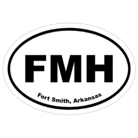 Fort Smith, Arkansas Oval Stickers