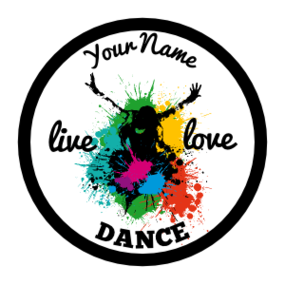 Custom Live Love Dance Circle Sticker