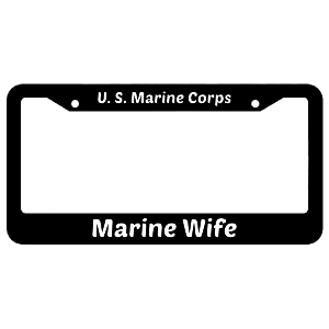 Marine Wife United States Marine Corps License Plate Frame