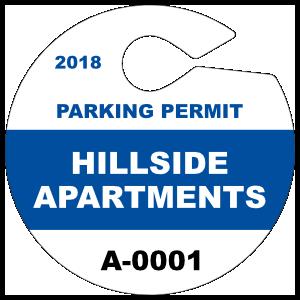 Custom Circle Hang Tag Parking Permit