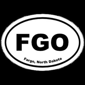 Fargo, North Dakota Oval Stickers