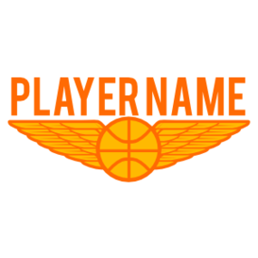 Custom Player's Name Basketball Wing Sticker