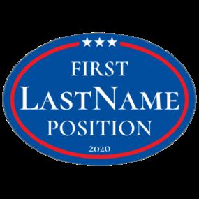 Custom Campaign Star Border Oval Sticker
