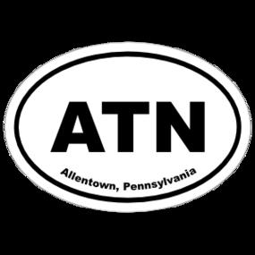 Allentown, Pennsylvania Oval Stickers