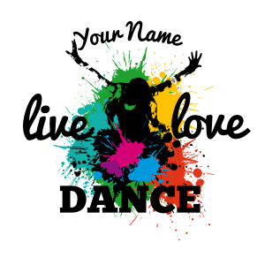Custom Splashed with Color Live Love Dance Sticker