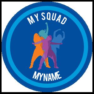 Custom Color Dance Squad Circle Sticker