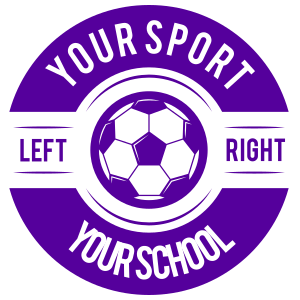 Custom Text Screw Top Circle Soccer Sticker