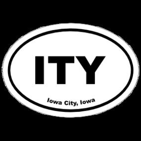 Iowa City, Iowa Oval Stickers